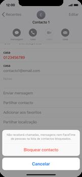 Apple iPhone X - Chamadas - Como bloquear chamadas de um número -  6