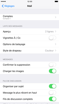 Apple Apple iPhone 6 Plus iOS 10 - E-mail - Configuration manuelle - Étape 17