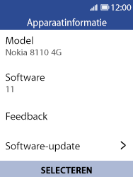 Nokia 8110 - Software updaten - Update installeren - Stap 6