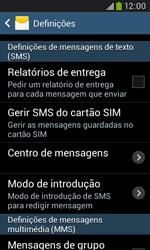 Samsung Galaxy Trend Plus - SMS - Como configurar o centro de mensagens -  6