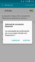Samsung Galaxy S6 - Bluetooth - Conectar dispositivos a través de Bluetooth - Paso 7