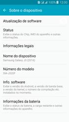 Samsung Galaxy J3 Duos - Primeiros passos - Como encontrar o número de IMEI do seu aparelho - Etapa 5