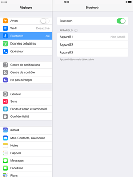 Apple iPad 4th generation iOS 7 - Bluetooth - connexion Bluetooth - Étape 7