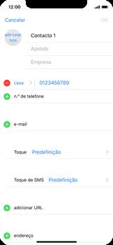 Apple iPhone X - Contactos - Como adicionar um novo contacto -  9