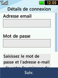 LG T580 - E-mails - Ajouter ou modifier un compte e-mail - Étape 7