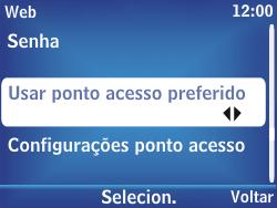 Nokia Asha 302 - Internet - Como configurar seu celular para navegar através de Vivo Internet - Etapa 9