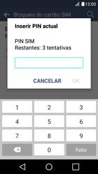 LG K4 - Segurança - Como ativar o código PIN do cartão de telemóvel -  8
