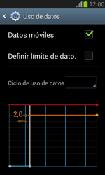 Samsung Galaxy S3 Mini - Internet - Ver uso de datos - Paso 7