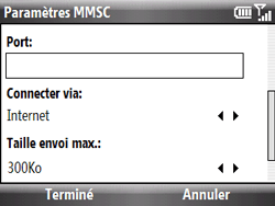 HTC S521 Snap - MMS - Configuration manuelle - Étape 16