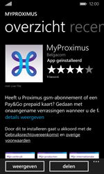 Microsoft Lumia 532 - Applicaties - MyProximus - Stap 9