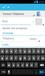 Bouygues Telecom Bs 401 - Contact, Appels, SMS/MMS - Ajouter un contact - Étape 5