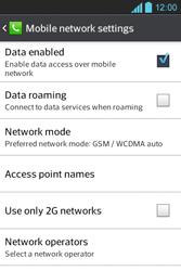 LG E610 Optimus L5 - Internet - Enable or disable - Step 6