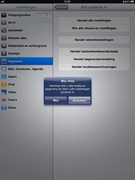Apple iPad - Instellingen aanpassen - Fabrieksinstellingen terugzetten - Stap 5