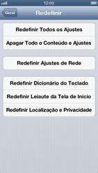 Apple iPhone iOS 6 - Funções básicas - Como restaurar as configurações originais do seu aparelho - Etapa 7