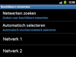 Samsung B5510 Galaxy TXT - Netwerk - gebruik in het buitenland - Stap 12