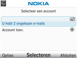 Nokia C3-00 - E-mail - e-mail versturen - Stap 3