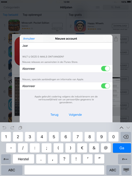 Apple iPad 3 iOS 9 - Applicaties - Account aanmaken - Stap 16