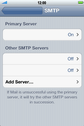 Apple iPhone 4 S - E-mail - Manual configuration POP3 with SMTP verification - Step 13