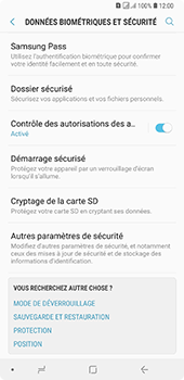 Samsung Galaxy A7 2018 - Sécuriser votre mobile - Personnaliser le code PIN de votre carte SIM - Étape 5