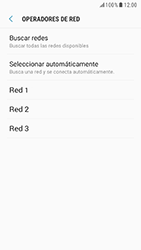 Samsung Galaxy S6 - Android Nougat - Red - Seleccionar una red - Paso 9