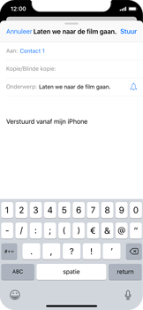 Apple iPhone X - E-mail - Bericht met attachment versturen - Stap 7