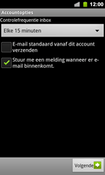 Google Nexus S - E-mail - handmatig instellen - Stap 10