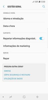 Samsung Galaxy S8 - Android Oreo - Repor definições - Como repor definições de fábrica do telemóvel -  6
