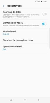 Samsung Galaxy S8 Plus - Red - Seleccionar el tipo de red - Paso 8