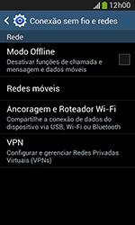Samsung Galaxy Grand Neo - Wi-Fi - Como usar seu aparelho como um roteador de rede wi-fi - Etapa 5