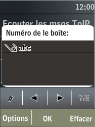 Nokia X3-02 - Messagerie vocale - configuration manuelle - Étape 8