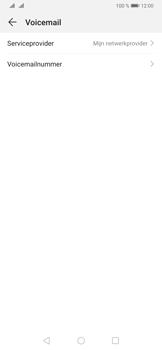 Huawei P30 - Voicemail - Handmatig instellen - Stap 9