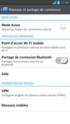 LG Optimus F6 - Internet et connexion - Désactiver la connexion Internet - Étape 5