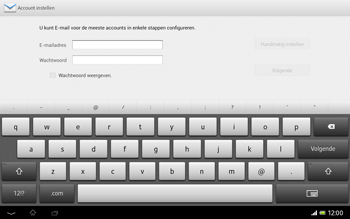 Sony SGP321 Xperia Tablet Z LTE - E-mail - Handmatig instellen - Stap 6