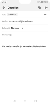 Huawei p20-dual-sim-model-eml-l29-android-pie - E-mail - Bericht met attachment versturen - Stap 7