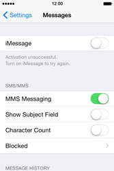 Apple iPhone 4s iOS 8 - MMS - Manual configuration - Step 12
