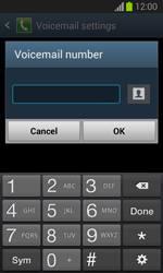 Samsung S7390 Galaxy Trend Lite - Voicemail - Manual configuration - Step 8