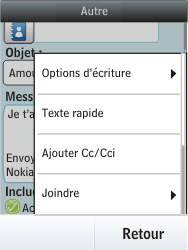 Nokia Asha 300 - E-mail - envoyer un e-mail - Étape 12