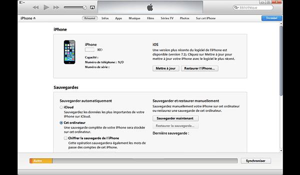 Apple iPhone XS - iOS 12 - Aller plus loin - Gérer vos données avec un ordinateur - Étape 5