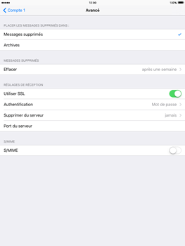Apple iPad 3 iOS 9 - E-mail - Configuration manuelle - Étape 21