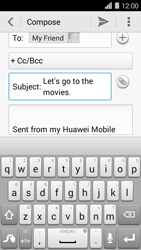 Huawei Ascend Y550 - E-mail - Sending emails - Step 9