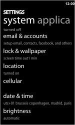 HTC 7 Trophy - Internet - handmatig instellen - Stap 4