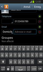 Samsung Galaxy Express - Contact, Appels, SMS/MMS - Ajouter un contact - Étape 12