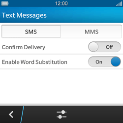BlackBerry Q5 - SMS - Manual configuration - Step 6
