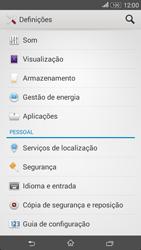 Sony Xperia E4 - Segurança - Como ativar o código de bloqueio do ecrã -  4