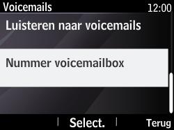 Nokia Asha 210 - Voicemail - Handmatig instellen - Stap 6