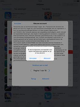 Apple iPad 9.7 (Model A1823) - Applicaties - Account aanmaken - Stap 10