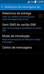 Samsung Galaxy Ace 4 - SMS - Como configurar o centro de mensagens -  7