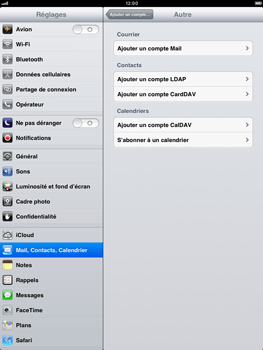 Apple iPad mini - E-mail - Configuration manuelle - Étape 6