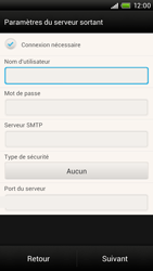 HTC S728e One X Plus - E-mail - Configuration manuelle - Étape 12
