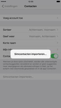 Apple iphone 6 plus met ios 10 model a1524 - Contacten en data - Contacten kopiëren van SIM naar toestel - Stap 5